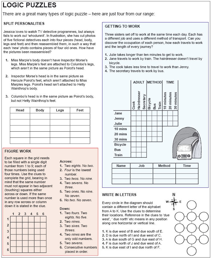 It is an image of Bewitching Logic Grid Puzzles Printable