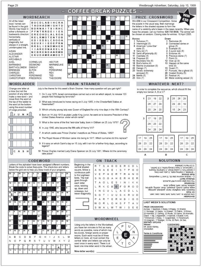 Calendar Pages Crossword : Word puzzles for newspaper search results calendar