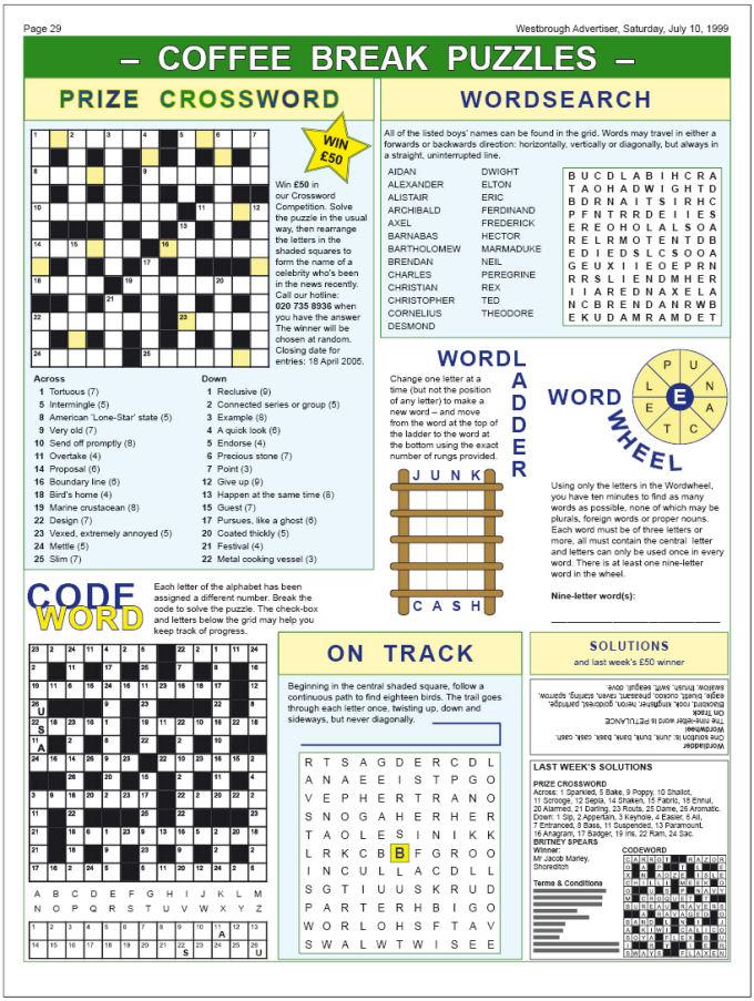 Logic Puzzle Template : eBook Database