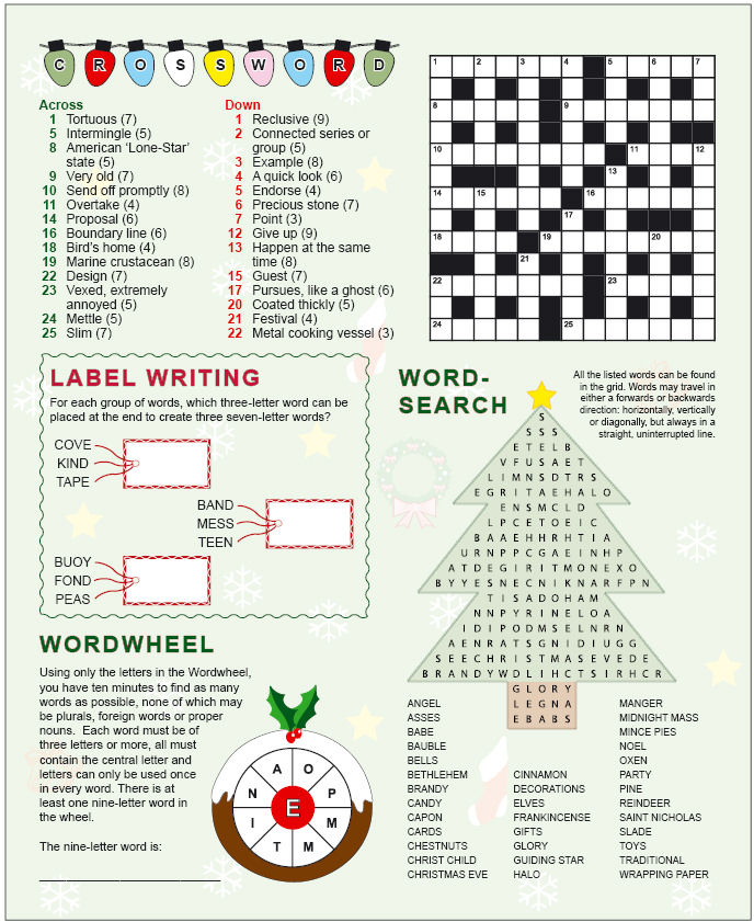 Christmas Logic Puzzles puzzle press ltd - puzzle ideas - occasion ...